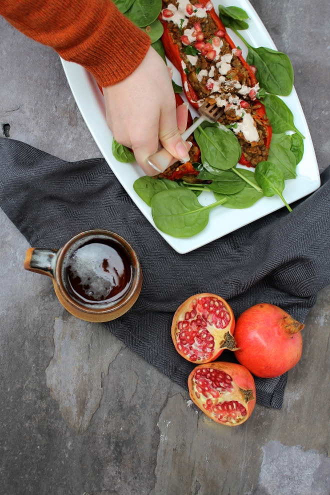 Vegan-Dinner-Recipe-Autumn-Spiced-Stuffed-Peppers-with-Walnut-Sauce-+-Pomegranates-|-Donuts-+-Bolts-Healthy-Delicious-Food