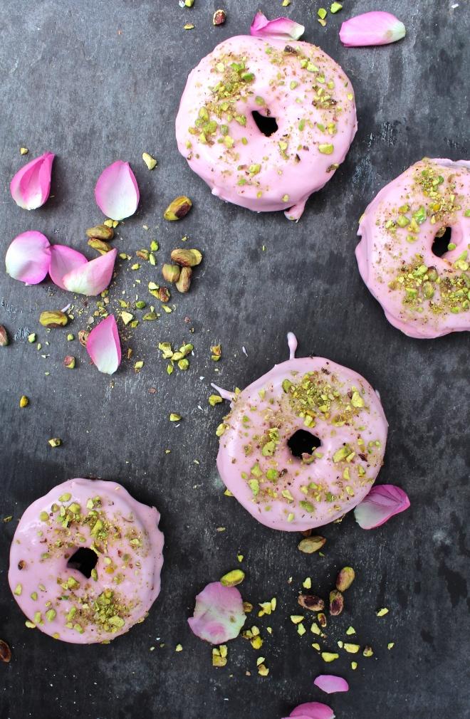 Vegan-Rosewater-Glaze-+-Chopped-Pistachio-Nut-Donut
